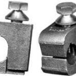 "Bronze grounding connector for conductor to 1/4""–5/8"" ground  rod, #6 solid AWG–#10 solid AWG."
