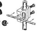 """With a front """"J"""" slot to accept #1, #2, or #6 AWG in a continuous """"ring"""" around an equipment hut or building."""