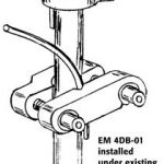 EM4DB-01 installed under existing ground rod clamp